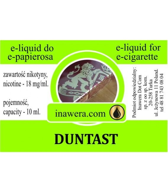 Никотинова течност - DUNTAST DUNHILL - Inawera