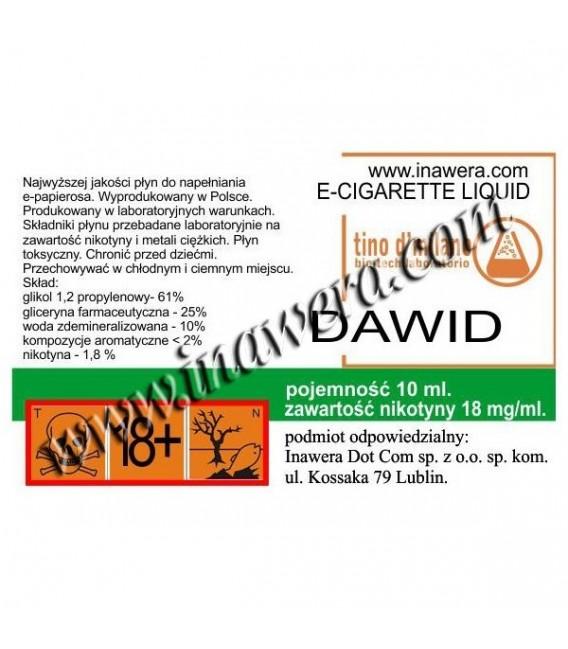 Никотинова течност - DAWID (Davidoff) - Tino D Milano