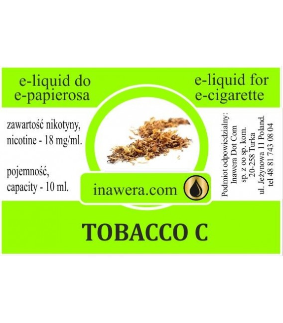 Никотинова течност - TOBACCO C - Inawera